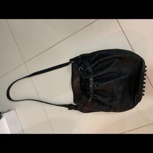 Alexander Wang - Black Pebbled Leather Bucket Bag